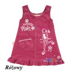 Odzież dla dziewczynki sukienka sztruksowa z falbanką rozm. 98...
