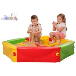 Plastikowa piaskownica dla dzieci + pokrowiec...