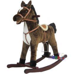 Interaktywny koń na biegunach Baby Mix - wydaje dźwięki galopu i śpiewa piosenki...