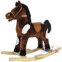 Zabawka dla dzieci 18m+ konik na biegunach Baby Mix - rży, śpiewa i macha ogonem...