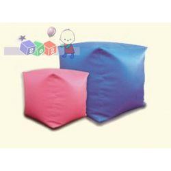 Kwadratowa pufka dla dzieci Cube M, meble Globinit 38x38 cm...