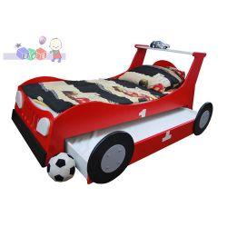 Łóżko samochód standard z wzmacnianą szufladą służącą jako drugie łóżko 204x98...