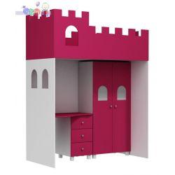 Łóżko antresola podwyższana Zamek wys 220, szer 95, wys 150...