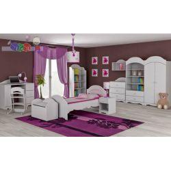 Zestaw mebli dla dziecka szafa dwudrzwiowa + łóżko + komoda 3 szuflady...
