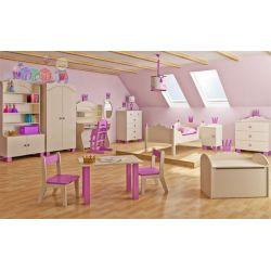 Zestaw mebli dziecięcych szafa komoda łóżko kolekcja Korona Baby best...