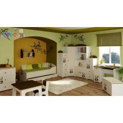 Komplet mebli dziecięcych Baggi  Szafa + komoda + łóżko młodzieżowe 180x90...
