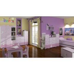 Komplet mebli dziecięcych lux Globinit Szafa komoda + łóżko młodzieżowe 180x90...