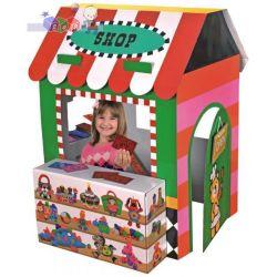 Kartonowy domek do zabawy 2 w 1 - sklep i teatr K's Kids - czas na zakupy, czas na przedstawieni...