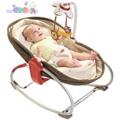 Innowacyjny wielofunkcyjny leżaczek, bujaczek, łóżeczko 3w1 Tiny Love - brązowy...
