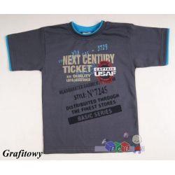 Bawełniana koszulka dziecięca T-shirt rozmiar 122...