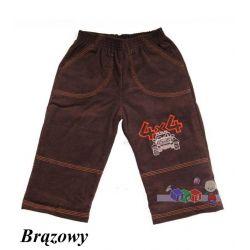 Dziecięce spodnie sztruksowe ocieplane rozm. 122...