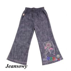 Dziewczęce spodnie dzwony jeans rozm. 122...