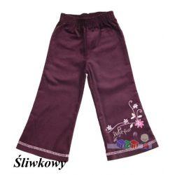 Odzież dziecięca spodnie sztruksowe dzwony rozm. 122...