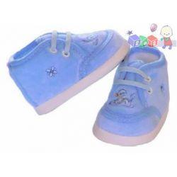 Sztruksowe buciki niemowlęce wiązane Lafel rozm 11cm...