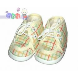 Niemowlęce buty wiązane z bawełny, pełne Lafel rozm. 12cm...