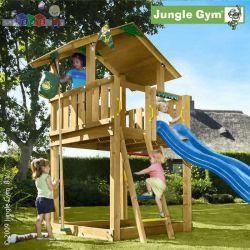 Impregnowany zestaw dla dzieci do ogrodu Jungle Chalet Jungle Gym...