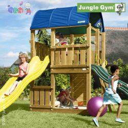 Malowany zestaw - plac zabaw Jungle farm z jedną zjeżdżalnią Jungle Gym...