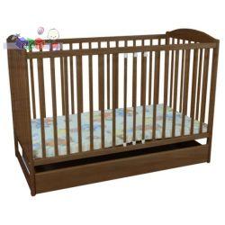 Łóżeczko niemowlęce z szuflada Kevin IV Jardrew kolor orzech...