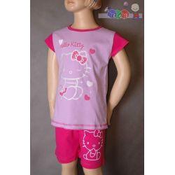 Dziecięce piżamy dla dziewcząt - krótki rękaw z nadrukiem rozmiar 98...