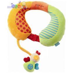 Bezpieczna podróż - zagłówek samochodowy z grzechotką dla dziecka Fehn Explorer - ptaszek...
