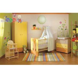 Meble dziecięce Klupś - zestaw mebli Paula - łóżeczko z szufladą 120x60 + szafa + komoda...