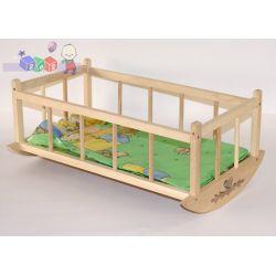 Kołyska dla lalek z drewna + pościel gratis...