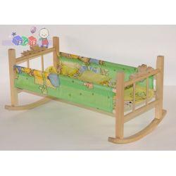 Kołyska z drewna dla lalek z pościelą gratis...