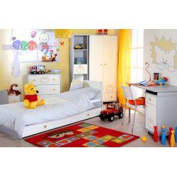 Kolekcja mebli młodzieżowych Safari Lew firmy Klupś - zestaw łóżko z szufladą 200x90, komoda i szafa...