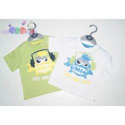 Koszulka T-shirt dla dziecka z nadrukiem Life and Sole rozm 68-80...