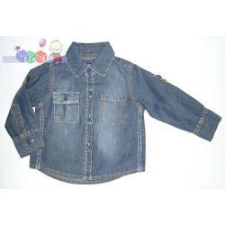 Elegancka dziecięca koszula jeansowa 86-92...