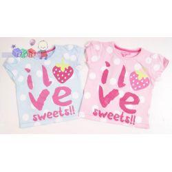 Koszulka dla dziewczynki I Love Sweets rozm 68-80...