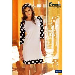 Koszulka nocna*grochy**oryginalna*Donna Night*r. L