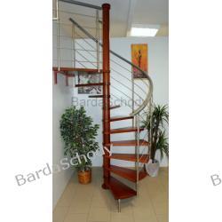 Schody kręcone BARDA model LIZBONA 03 B fi 130 cm 13 elementów