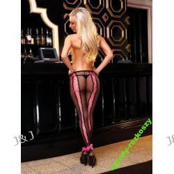 Bardzo seksowne rajstopy z różowymi wstawkami