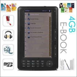 "Czytnik Ebook Dignity 7"" - 4GB,TXT,PDF,FB2"