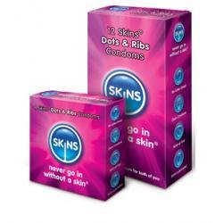 Prezerwatywy Skins Dots&Ribs - 100% GRATIS
