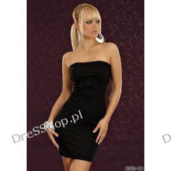 Elegancka czarna dopasowana sukienka rozm. L