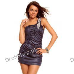 Śliczna mini sukienka na jedno ramię r. uni