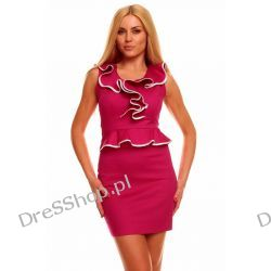 Elegancka różowa sukienka rozm. S 36