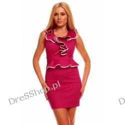 Elegancka różowa sukienka rozm. M 38
