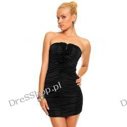 Czarna mini sukienka z zamkiem rozm. M/L