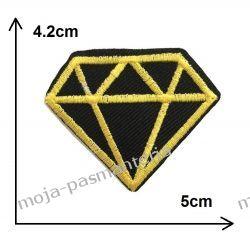APLIKACJA NAPRASOWANKA TERMO -DIAMENT złoto- 42x50mm Aplikacje
