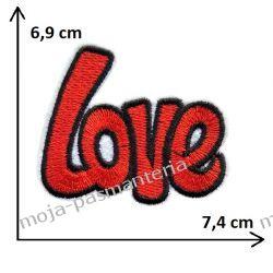 APLIKACJA NAPRASOWANKA TERMO - 1. LOVE - 6,9 cm x 7,4cm Aplikacje