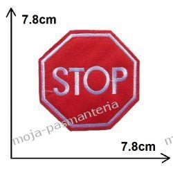 Naprasowanka - ZNAK STOP - 78x78mm Aplikacje