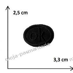 Naprasowanka - OK czarne - 25x33mm