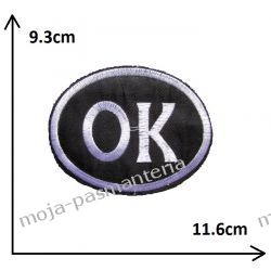 Naprasowanka - OK duże - 93x116mm Aplikacje