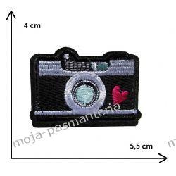 APLIKACJA NAPRASOWANKA TERMO - APARAT FOTOGRAFICZNY- 4x5,5cm Aplikacje