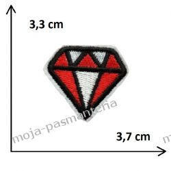 APLIKACJA NAPRASOWANKA TERMO -1. DIAMENT - 3,3 cm x 3,7 cm Rękodzieło