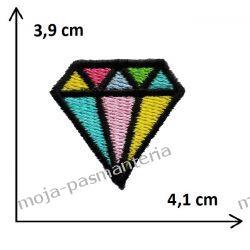 APLIKACJA NAPRASOWANKA TERMO -2. DIAMENT - 3,9 cm x 4,1 cm Rękodzieło