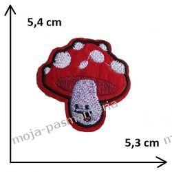 APLIKACJA NAPRASOWANKA - MUCHOMOR - GRZYB - 5,4x5,3cm